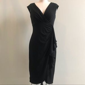 WHBM Cap Sleeve Ruched Cocktail Dress